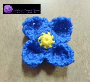 Blue Pinwheel flower