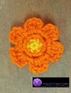 Orange Flower Yellow Center