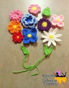 9 assorted flower and 3 assorted leaf applique patterns